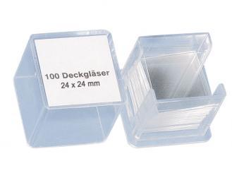 Deckgläser 24 x 24 mm, 1x100 Stück