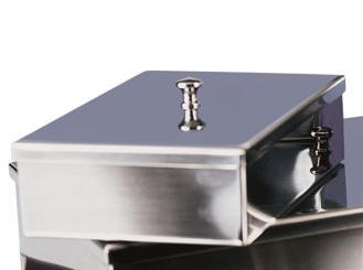 Instrumentenschale mit Knopfdeckel 18 x 12 x 5 cm ( L x B x H) 1x1 Stück