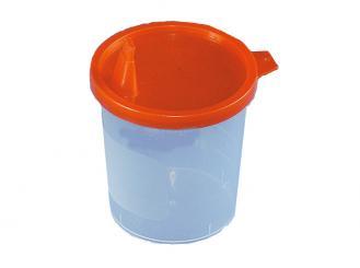 Urinbecher, 125 ml, mit Deckel und Ausguss, 1x500 Stück