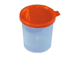 Urinbecher 125 ml, mit Deckel und Ausguss, 1x20 Stück