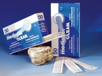 Holzmundspatel einzeln in Papier eingesiegelt, 150 x 20 mm, sterilisiert 1x50 Stück