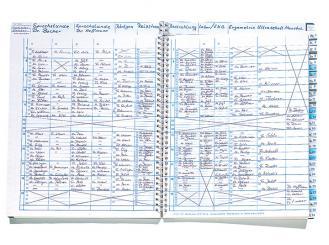 "Cedip Terminplaner ""Med Quartal"" Spiralbuch 12 Spalten pro Tag 1x1 Stück"