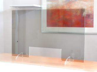 Nies- und Spuckschutzscheibe (Acryl), ca. 78 x 44 cm 1x1 Stück