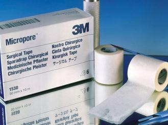 3M Micropore, hypoallergenes Vliespflaster weiß, 2,50 cm x 9,14 m 1x12 Stück