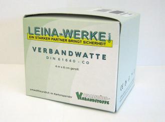 Verbandwatte gerollt 100% Baumwolle 4 m x 6 cm 1x1 Stück