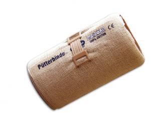 Pütterbinde® 8 cm x 5 m, hautfarben, mit Verbandklammern 1x10 Stück