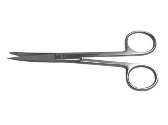 Einmalinstrument (steril) - Chirurgische Schere, schlank, gebogen, spitz / stumpf, 14,5 cm 1x10 Stück