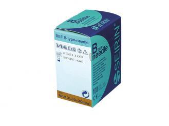 Akupunkturnadeln Seirin® B-Type, 0,30 x 30 mm Körper, Ohr, Gesicht; für Erwachsene 1x100 Stück