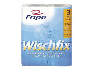 Haushaltstücher WISCHFIX, 3 - lagig, 26 x 24 cm, 51 Blatt 1x2 Rollen