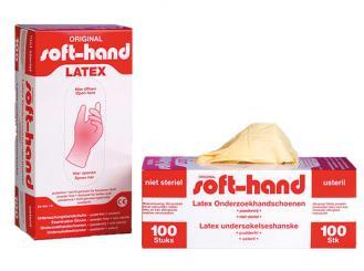 Soft-hand Latexhandschuhe klein puderfrei unsteril 1x100 Stück