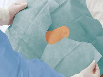 Foliodrape® Protect selbstklebende Lochtücher 75 x 90 cm 1x40 Stück