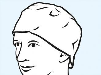 Foliodress® cap Comfort Rondo grüne OP-Hauben 1x100 Stück