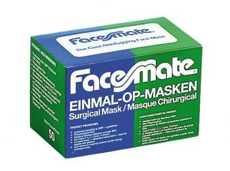 FaceMate Einmal OP-Mundschutz zum Binden 3-lagig grün 1x50 Stück