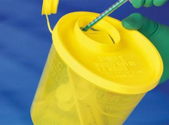 Servobox Standard transparent mit gelbem Deckel 1500 ml 1x100 Stück