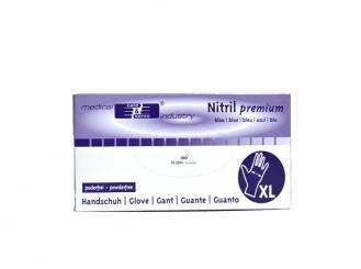 Nitril premium Handschuhe Größe XL puderfrei unsteril blau 1x100 Stück