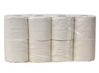 Toilettenpapier 2-lagig, weiß, 8 Rollen á 250 Blatt 1x8 Rollen
