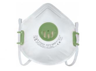 Atemschutzmaske FFP3 mit Ventil, wiederverwendbar, 1x1 Stück