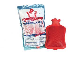 Gummi-Wärmflasche, rot, 2 Liter 1x1 Stück