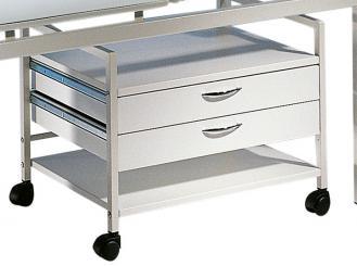Unterfahrtisch Mensa-Midi II 64 cm, 2 Schubladen, grauweiß, 1x1 Stück