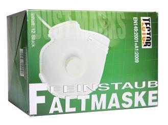 Feinstaubmaske FFP3, Faltmaske mit Ventil, 1x12 Stück