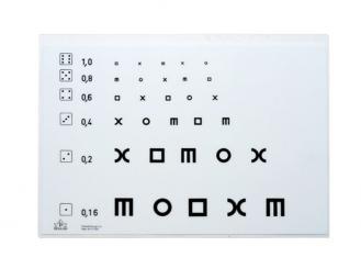 Optotypentafel für H-Test 1x1 Stück