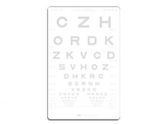 SLOAN-Buchstaben Kontrasttafel 1,25% 1x1 Stück