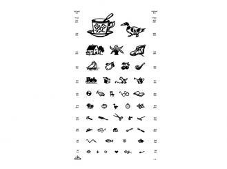 Sehprobentafel Kinderbilder, in Plastik eingeschweißt, 1x1 Stück
