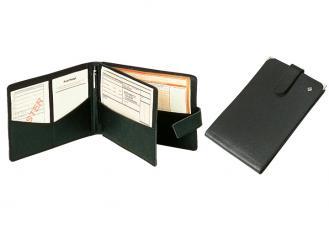 Rezept-Formularmappe schwarz aus Leder 1x1 Stück
