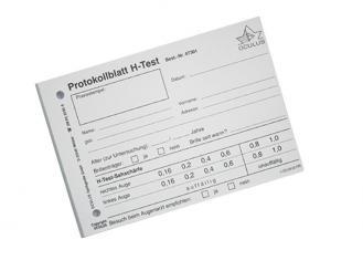 Testblöcke zu H-Test, á 100 Blatt pro Block 1x5 Stück