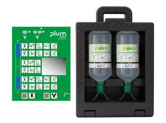 Plum iBox 2 - inklusive 2 x 1000 ml Plum Augenspülung DUO 1x1 Stück