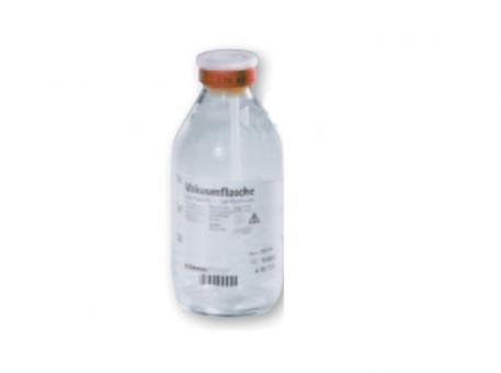 Ozon-Vakuumflaschen, 250 ml, pyrogenfrei, mit Entlüftung und Aufhängevorrichtung, Glas, CE, innensteril 1x10 Stück