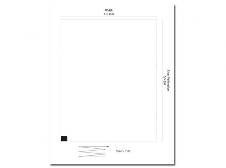 EKG-Papier Nihon Kohden Cardiofax 9010/9020, 110 x 140 mm 1x150 Stück