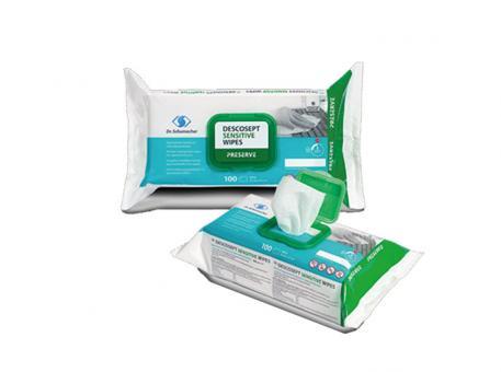 DESCOSEPT Sensitive Wipes, Flowpack 1x100 Stück