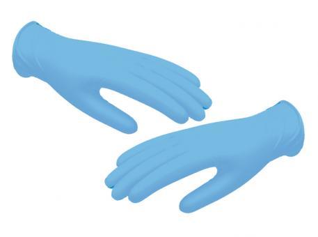 Nitril premium Handschuhe, puderfrei, unsteril, blau, klein, 1x100 Stück