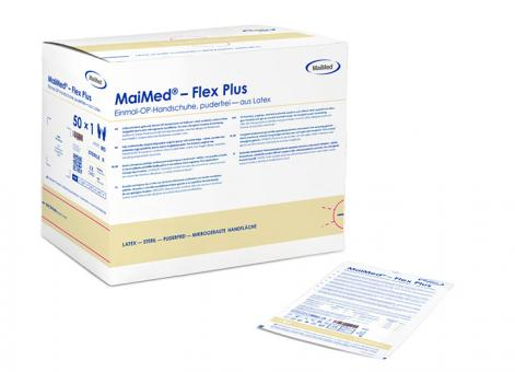 Maimed®-Flex Plus PF puderfrei, aus Latex, Gr. 7,0 1x50 Paar