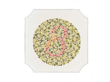 Farbtafeln nach Ishihara, Buch mit 14 Tafeln 1x1 Stück
